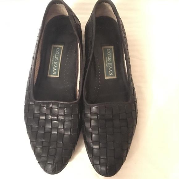 060ebe6a26e Cole Haan Shoes - Vintage 90s Black Leather Flats